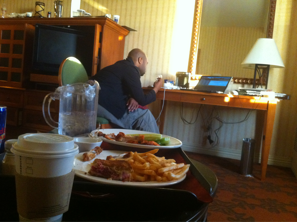 @marvinwinansjr won't leave my hotel room and keeps running up my room service bill..