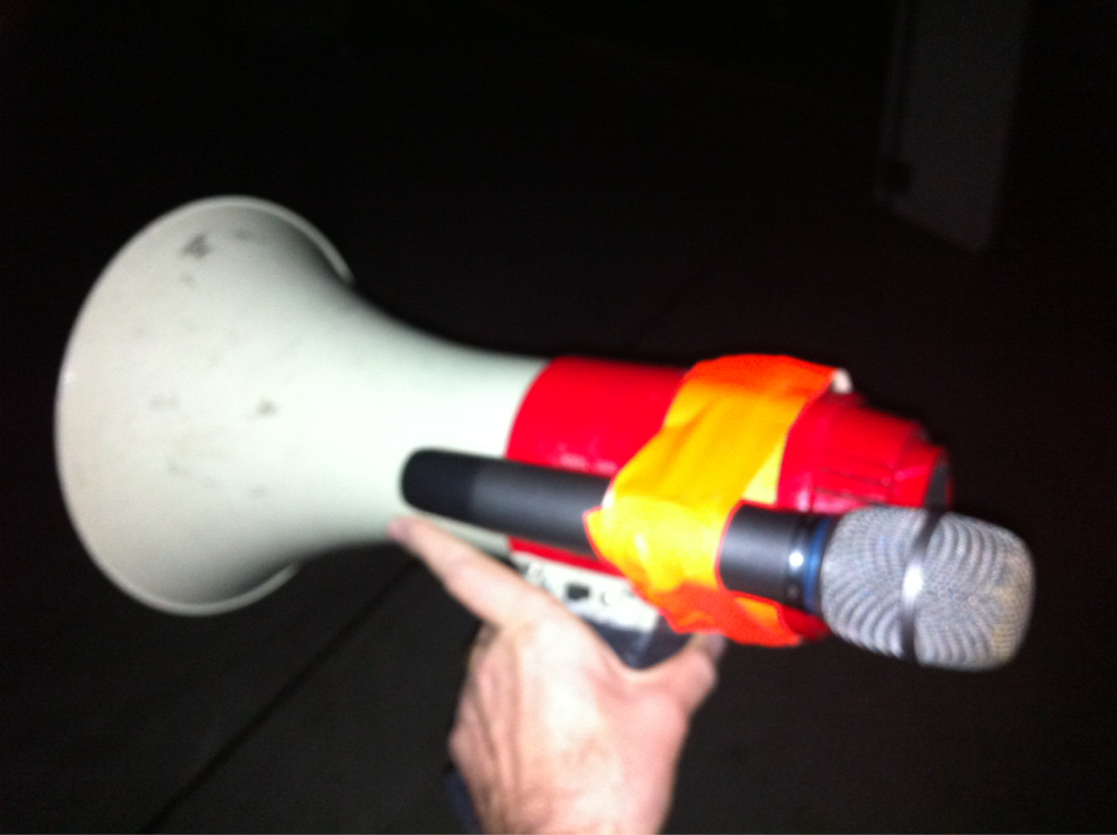 """This is my microphone tonight for the last """"Jesus freak"""" of winter jam.. I'm not gonna lie I'm pretty pumped."""