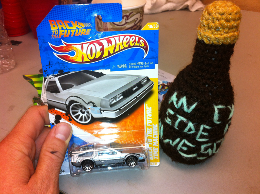 """I got a Delorean & a """"extra side of awesomesauce"""" tonight.. I love my fans :)"""
