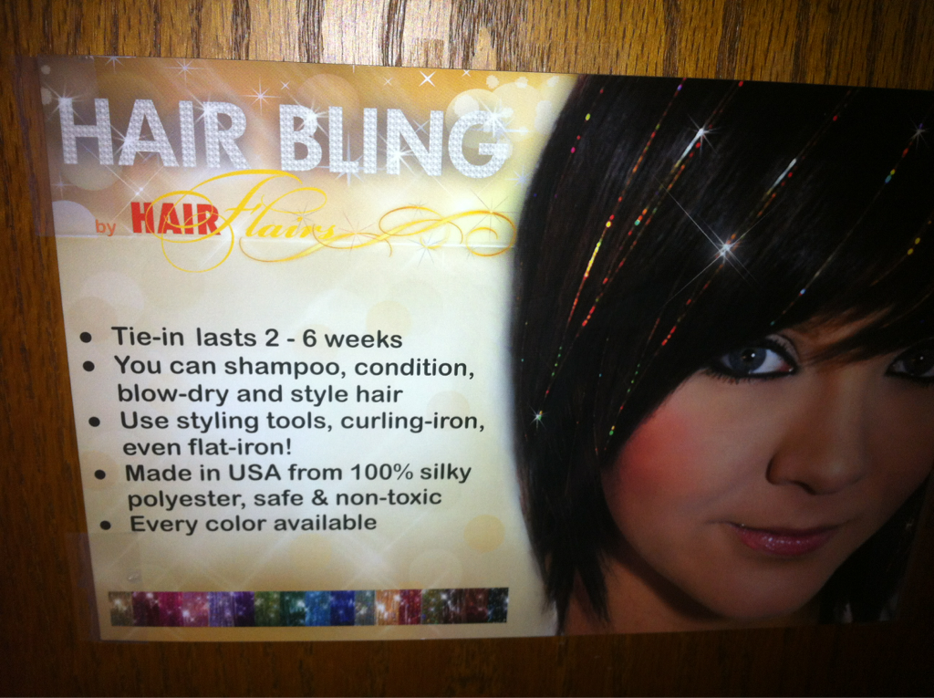 "Thinking long and hard about getting some ""hair bling"" anyone wanna go halvsies' on it w/ me?"