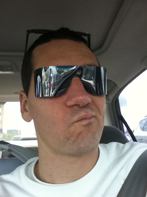 Had my pupils dilated/eye exam, now I have to wear these and look like a missing terminator stunt double..