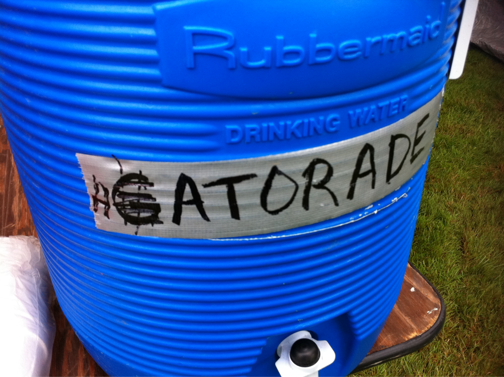 Whatever ya do don't drink the hatorade! (see pic!) #donthateparticipate