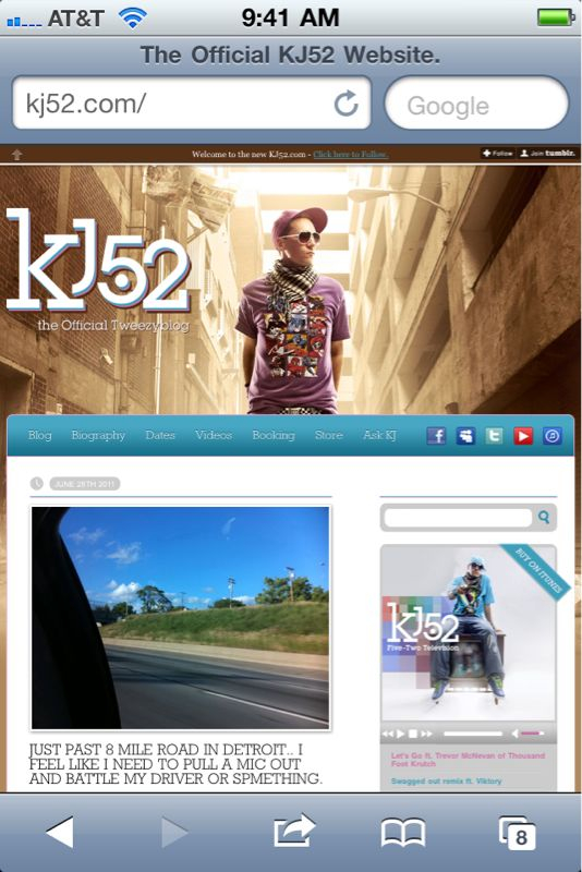 Hey make sure u check out the brand new www.kj52.com courtesy of el clinto @difted!