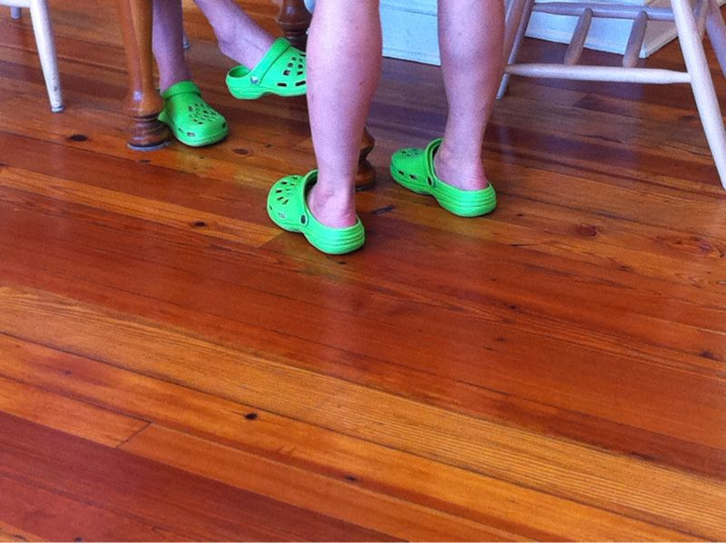 Someday when me & my wife are super-old we will wear these crocs together and embarrass our children.