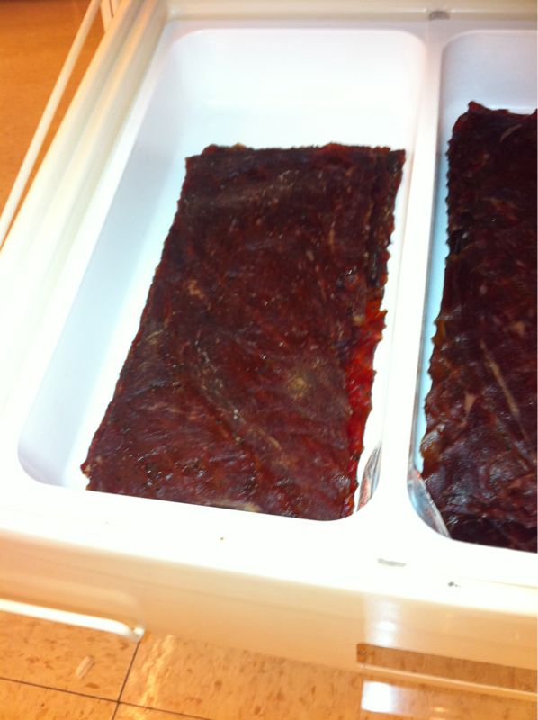 My 7eleven sells jerky in Sizes equal to drywall paneling. No wonder is smells like beef n' broken dreams in here..