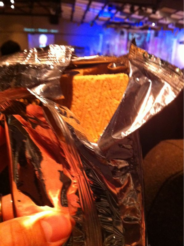 I'm straight up eating a pop tart in church.. Because I can!