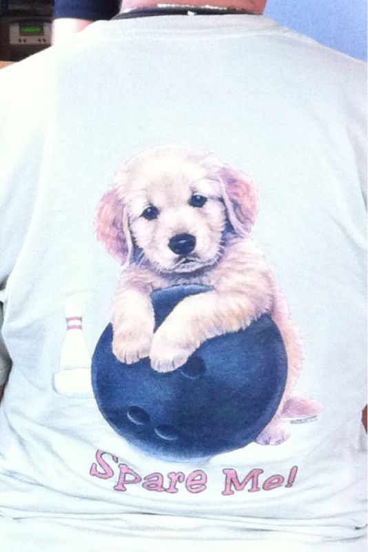 I'm pretty sure I'm gonna wear this shirt @ my next puppy/bowling party..