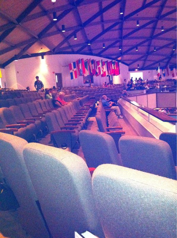 I'm sitting so far away from everyone in church I feel like I'm in timeout. #badchurchkid