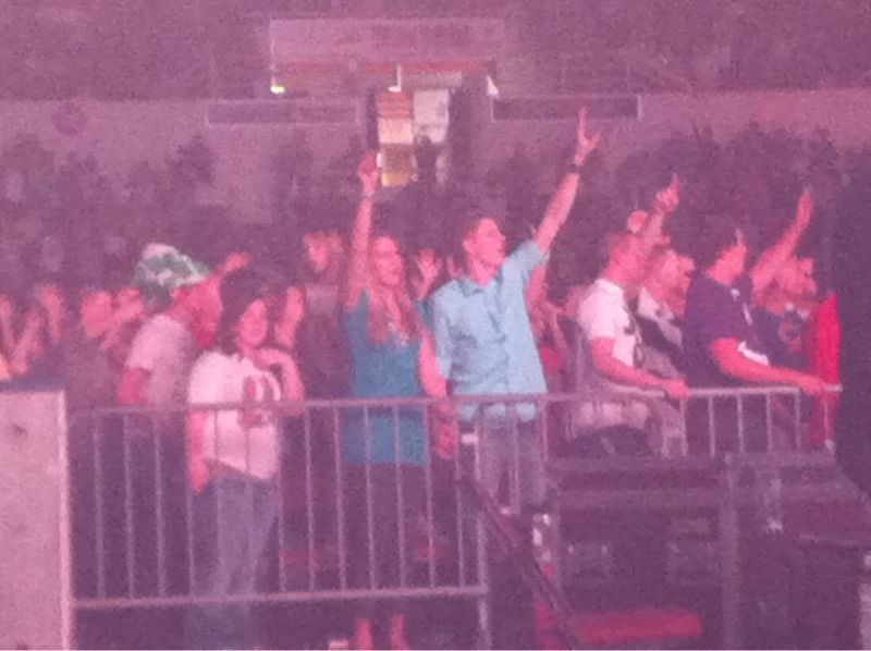 Awesome to see people worshipping @winterjamtour .. Gonna miss this tour! Feels like summer camp last day..