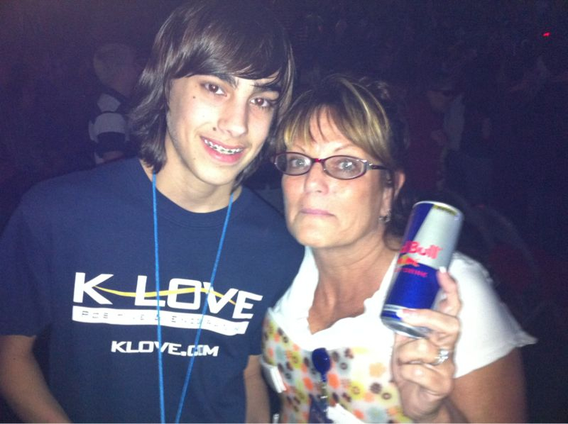 Shout out to Pam and Jacob of Klove radio who brought me Red Bull!
