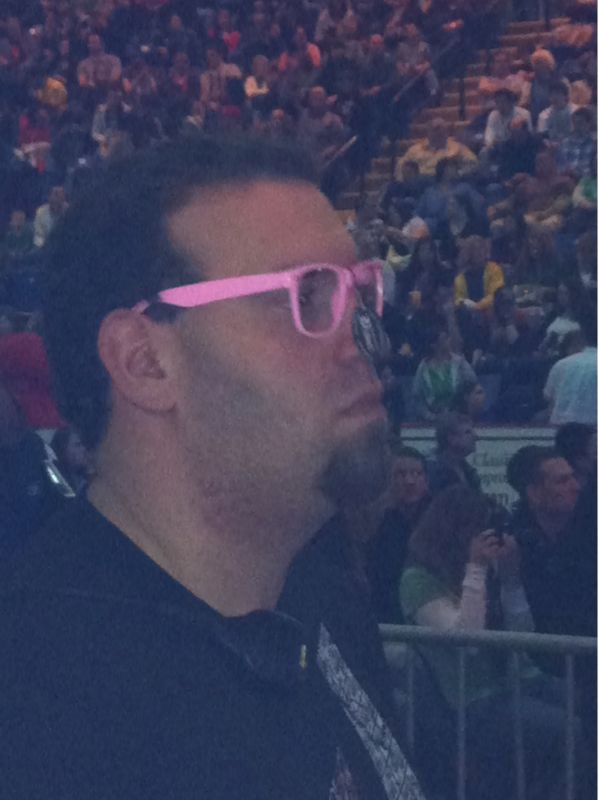 Is it a bad sign when ur monitor guy wears pink glasses and throw spitballs @ u?