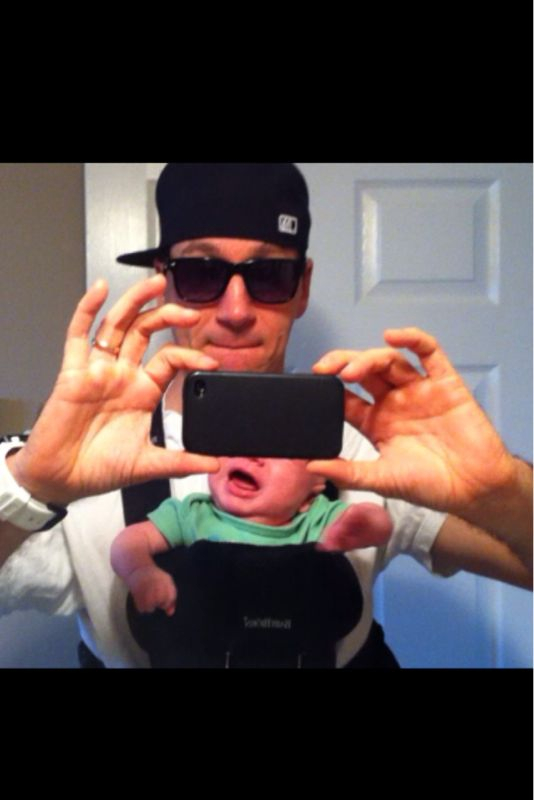 I think this picture officially confirms me as a rap dad.. Or a zach galifinakis poster stand in.