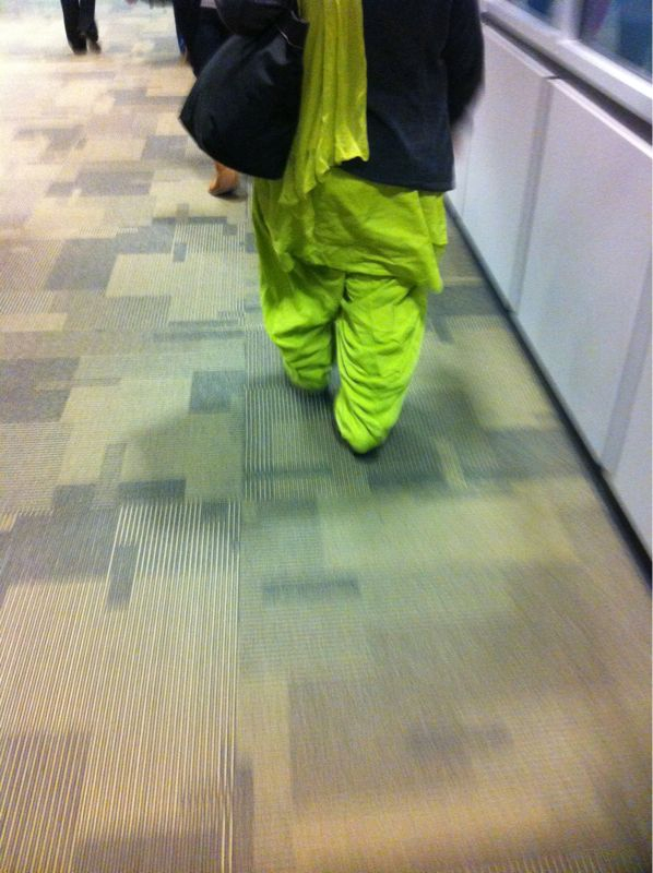 Fairly certain this person in front of me has on mc hammer pants…
