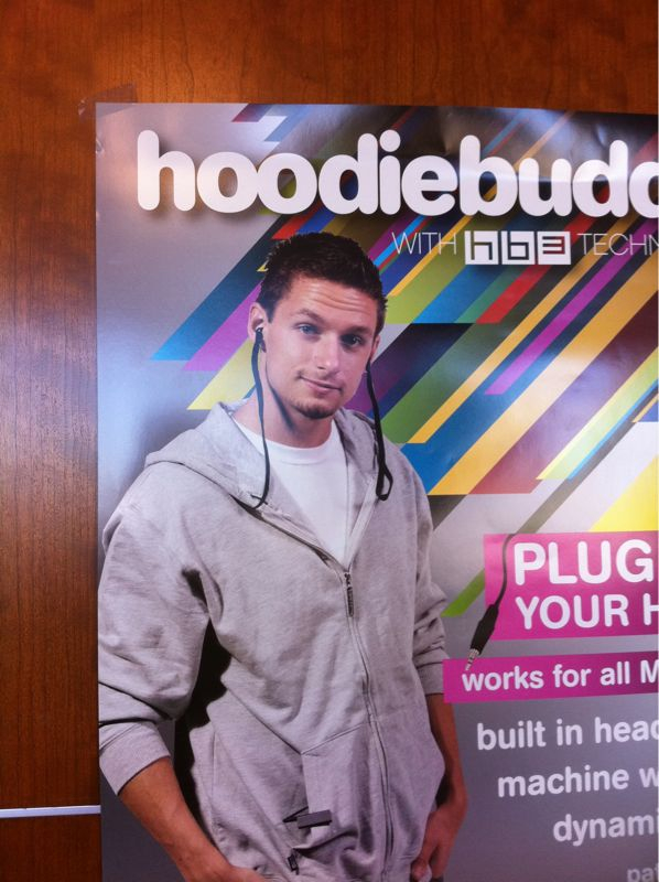"""Don't know why they call this """"hoodiebuddie"""" when it looks like u shoved drawstrings in ur ears.."""