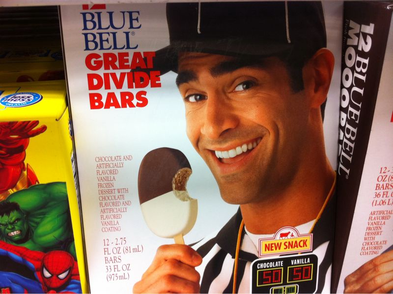 Hey ump! Get the ice cream out ya mouth! That's why the steelers got all those bad calls!