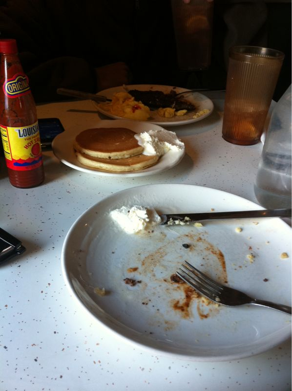 I repent in sackcloth, ashes & maple syrup for my remarks about pancake pantry.. It's the truth.