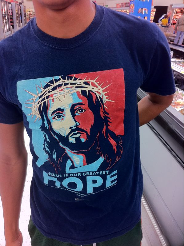 Just ran into a kid I havent seen in awhile .. Love what his shirt represents in his life now #hope