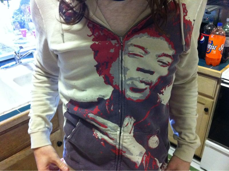My brother in law has got a Jimi Hendrix altamont hoodie and yes I'm a Lil jealous..