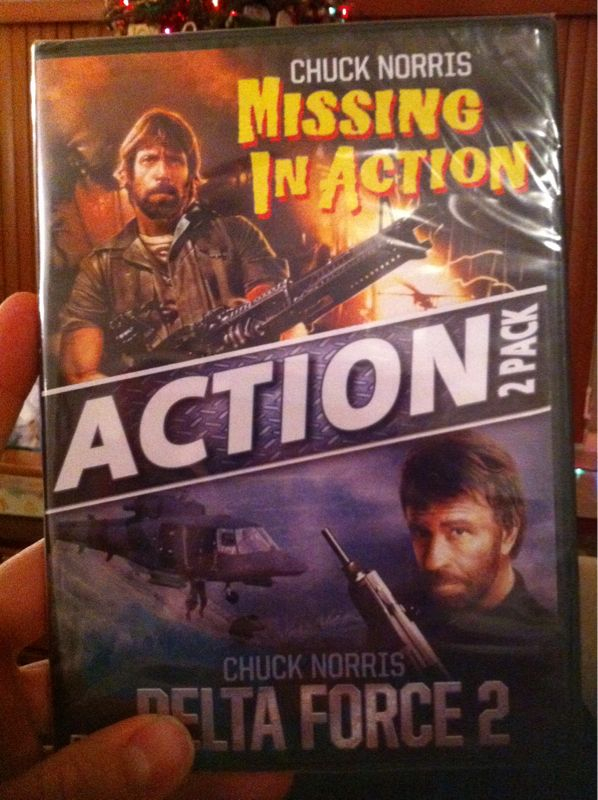 Mom just got me 2 chuck Norris movies for early Xmas.. This is better than my Indiana jones doll in '83.