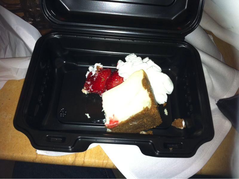 Wifey + Cheesecake + dbl date w/ @pedrolatorre @jessielatorre = happy, full stomach Tweezy.