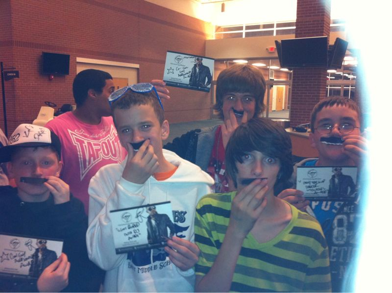 In honor of mo-vember (mustache November) I made staches' for these 12 yr olds..
