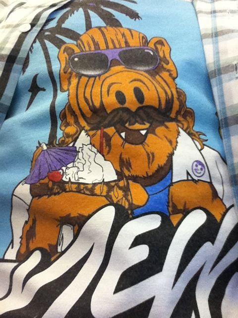 Not growing a 'stache for mo-vember (mustache-November) will however wear a shirt w/ ALF w/ a 'stache!