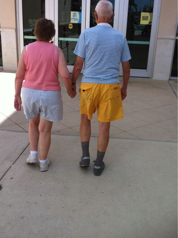 I know I crack on the old people here in Fl. But I saw this couple and had to smile :)