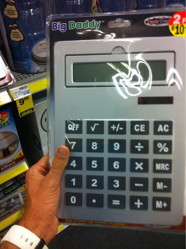 I apparently found Shaquille o' neals missing calculator..