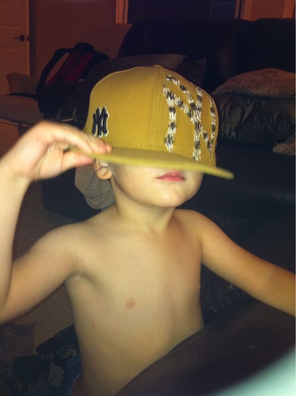 """My little gangsta thug rapper son stole my hat and is """"going low profile"""" apparently…"""