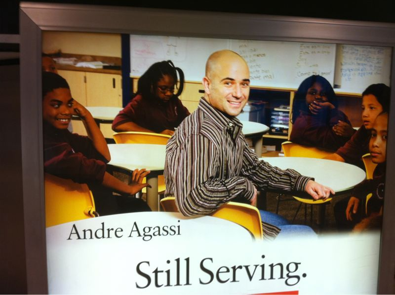 "This motivational poster looks like the kids r saying: ""why's this bald white sitting @ my table?"""