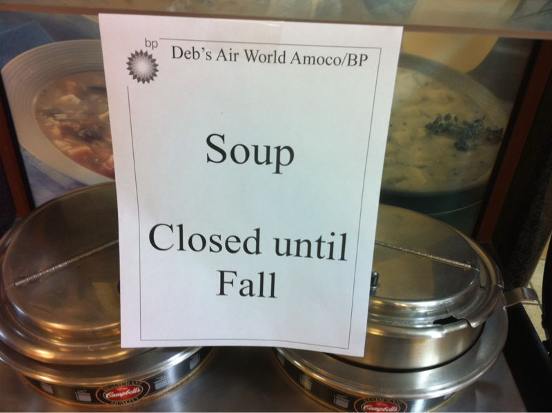 Apparently soup @ this convenient store is closed from aug-nov? Is noodles and chicken this hard to pull off?