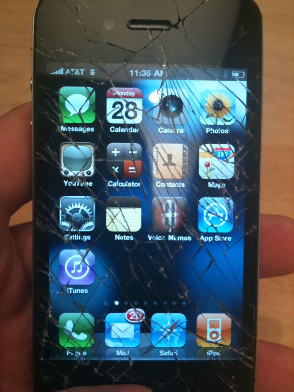 I shattered my brand new iPhone 4.. Man gravity u are always messing me up!