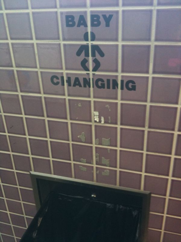Somehow I don't think u should be changing ur baby on top of the trash can (see pic)