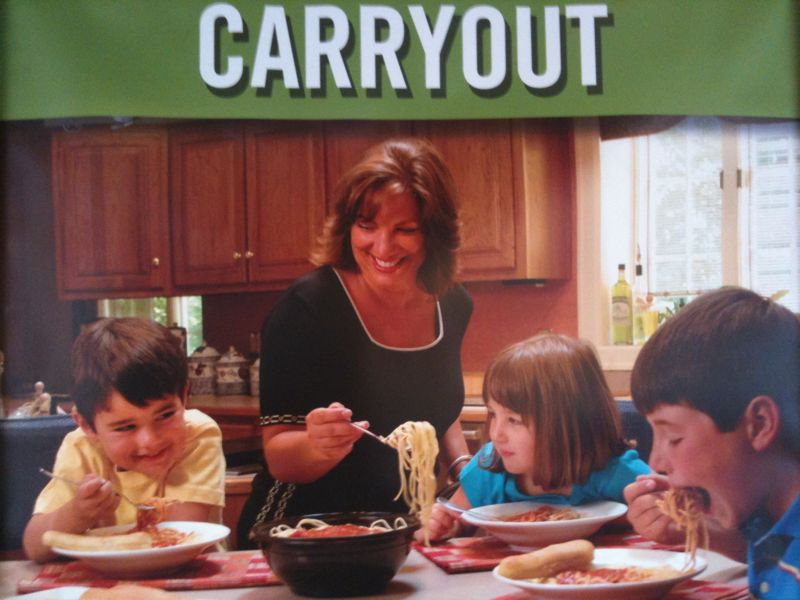 I'm sorry but no kids are THAT excited to eat carryout pasta.. Caption please :)