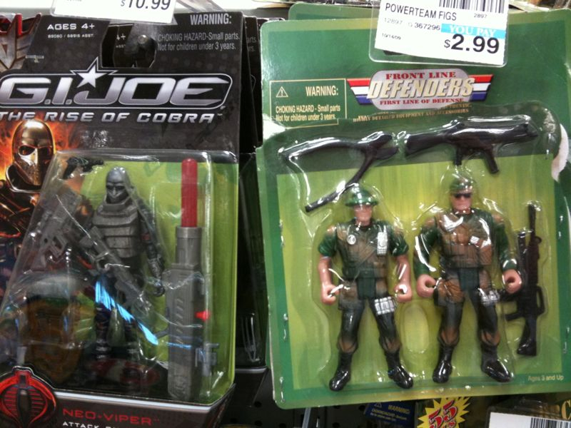 Fake gi joes should never be sold next to real ones …some things should be considered criminal. Do we not think of the children?