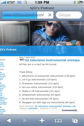 52 television instrums/accapellas now available free @ www.kj52podcast.com (2 zip files w/ 8 beats/19 accas)