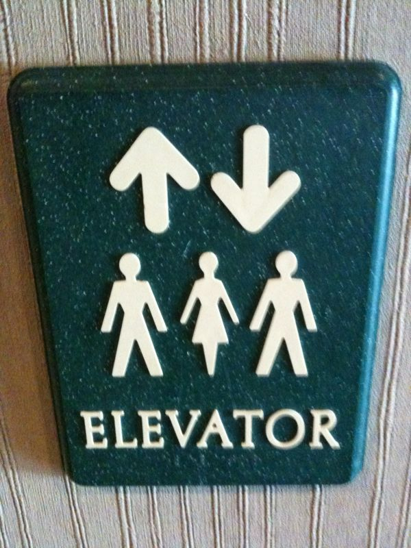 This might be the most obvious and confusing elevator sign I've ever seen..