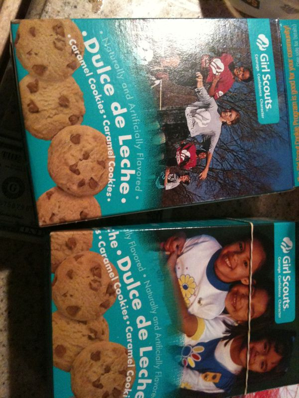 Girls scouts is thugged out! They pound my door for 5 min, then short me 1$.. Not 2 mention they cookies are addictive as crackk.. :p
