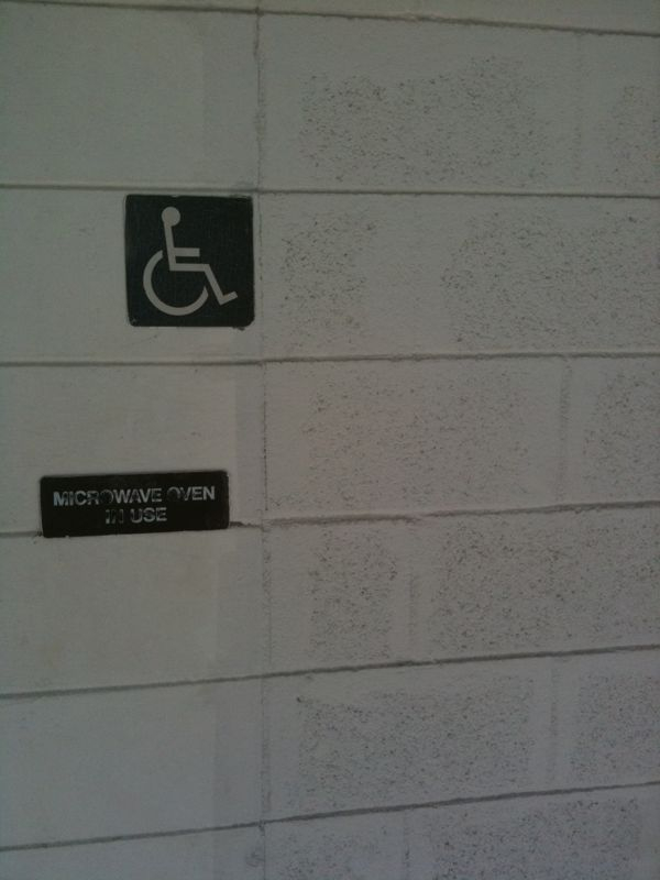 Apparently if ur handicapped @ this store u most posess the ability to walk thru solid walls!