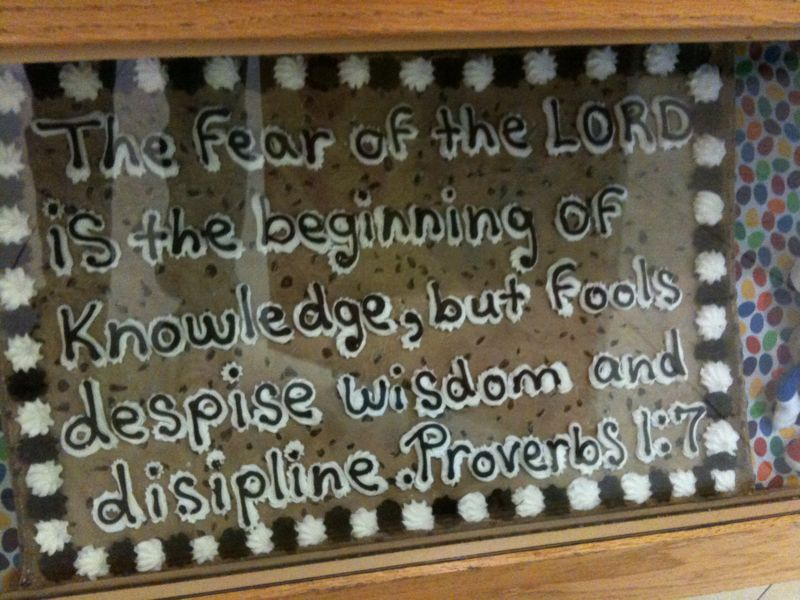 """Saw this cookie cake in the mall and it gives new meaning to getting """"the word"""" deep inside you.."""