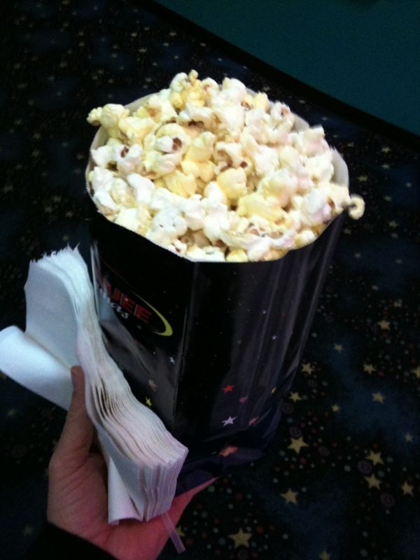 """Why is a """"small"""" movie popcorn big enuff to live off for a month if a nuclear war should happen?"""
