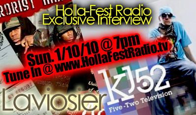 Check out/download the music/interview I did with hollafestradio.tv @ www.kj52podcast.com