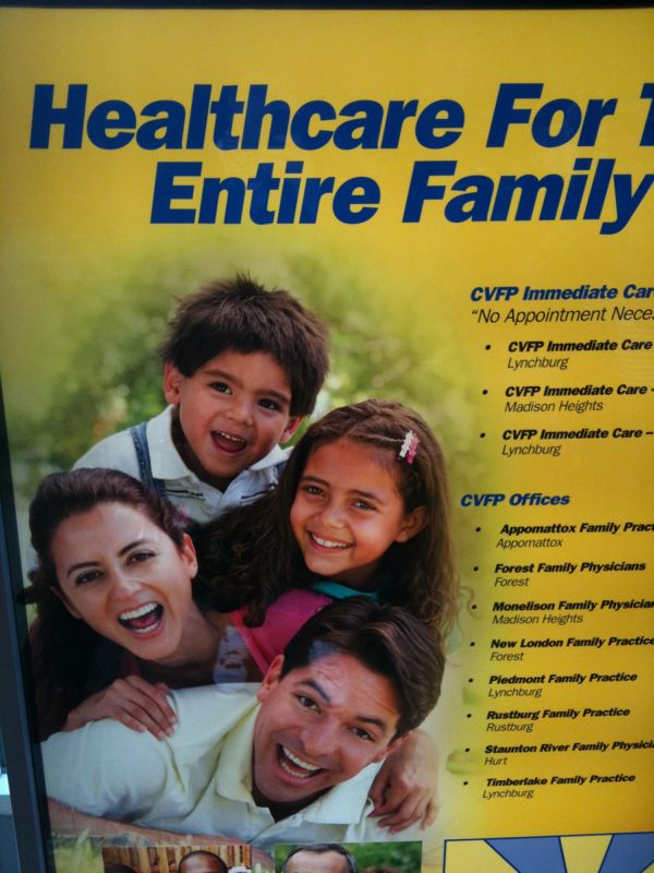 Saw this ad for a drs. Office.. Sorry ain't no lil kid that excited to go to a dr. (don't even look like his dad or mom either!)