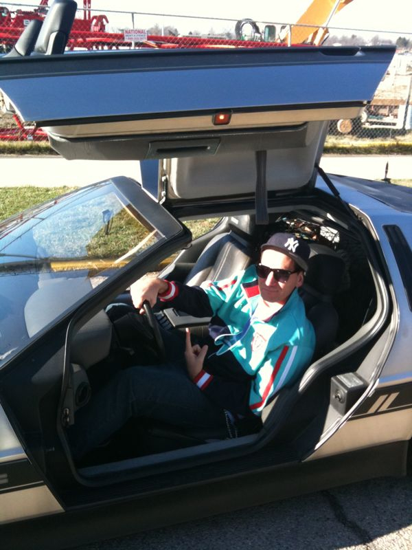 Yes this is me in a delorean.. No it's not mine.. Yes for that 2 minutes I was cooler than you.