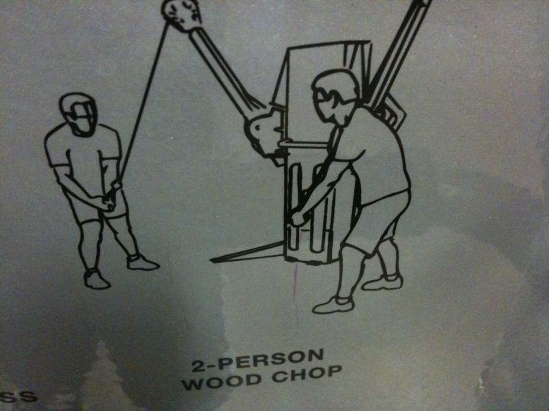 Saw this pic on the workout machine.. Sorry I'm not sharing a woodchop w/ any friends of mine..