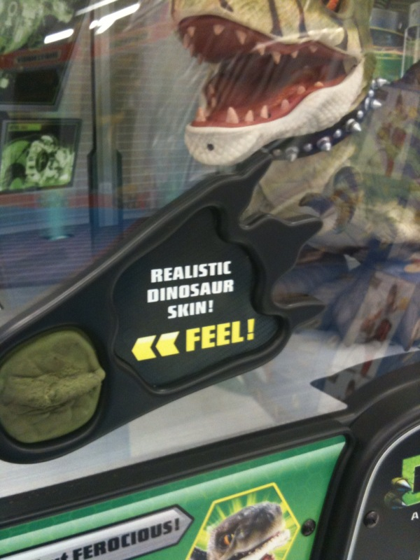 Can someone explain how they would know what a realistic dinosaur feel would feel like?