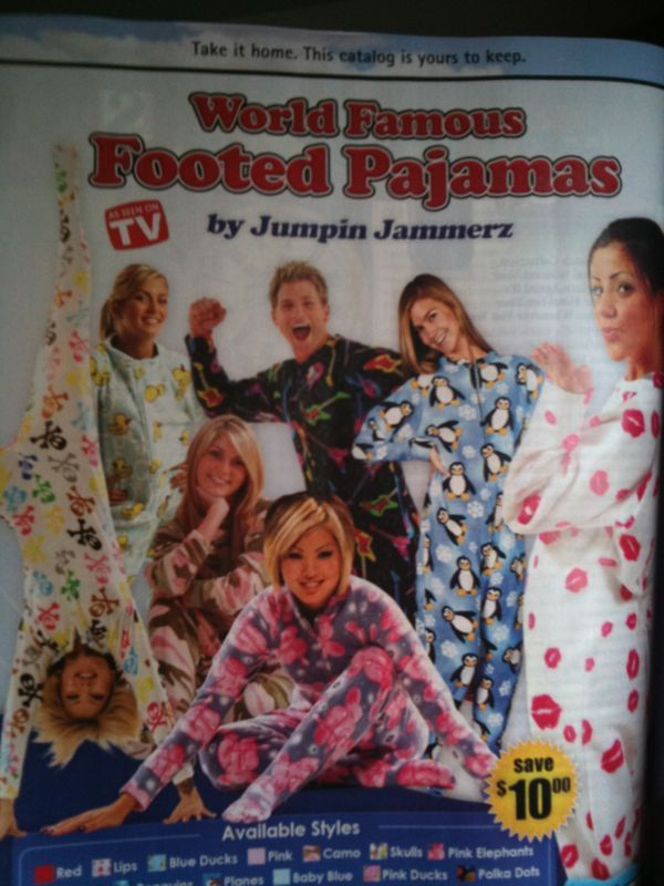 I think I just found something worse than the snuggie.. Pajama jammers? Onesies for grown ups? Cmon!