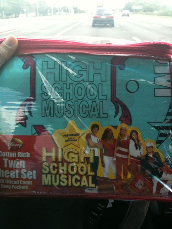 however tuff u are as a man.. There's no manly way to purchase and carry high school musical bedsheets.