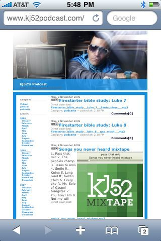 Free mixtape, bible studies and video podcast all uploaded today to www.kj52podcast.com peep it!