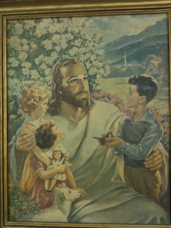 Is it just me or is Jesus's head quite massive in comparison to the lil' girl's head?